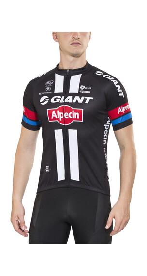 Giant Alpecin Replica Jersey korte mouwen Heren zwart